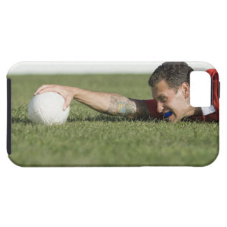 Man grabbing rugby ball iPhone 5 covers