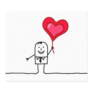 Man & Heart Canvas Print