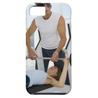 Man helping woman with weightlifting tough iPhone 5 case