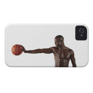 Man holding basketball iPhone 4 cases