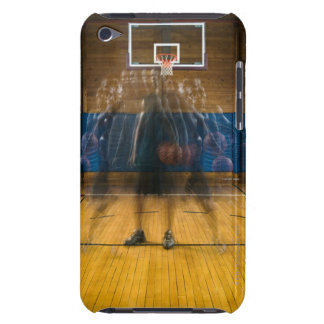 Man holding basketball standing on court, iPod touch Case-Mate case