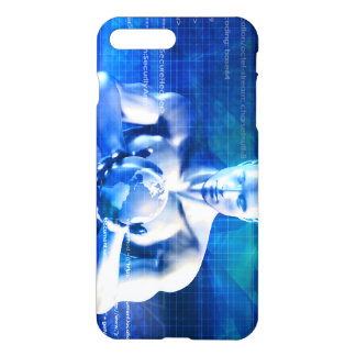 Man Holding Globe with Technology Industry iPhone 7 Plus Case