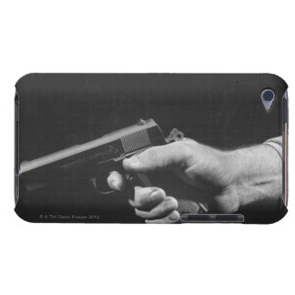 Man Holding Gun Barely There iPod Cases