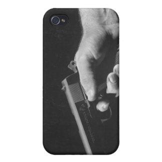 Man Holding Gun iPhone 4/4S Case