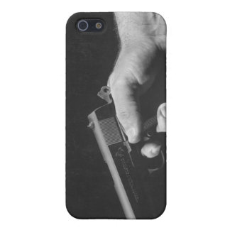 Man Holding Gun iPhone 5/5S Case