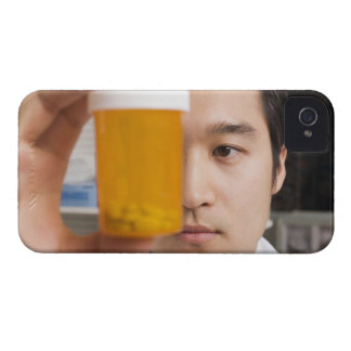 Man holding pill bottle iPhone 4 case
