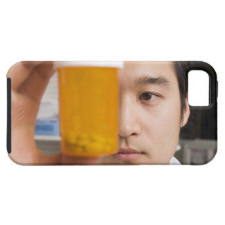 Man holding pill bottle iPhone 5 cover