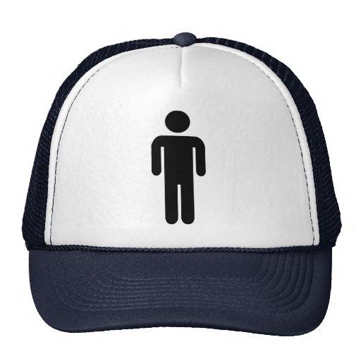 Man icon mesh hat