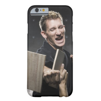 man in a black karate gi practicing martial arts barely there iPhone 6 case