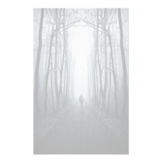 Man In A Dark Fantasy Forest Customized Stationery
