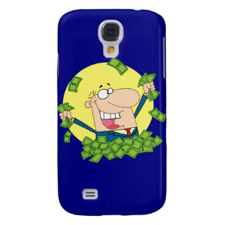 Man in a pile of money galaxy s4 case