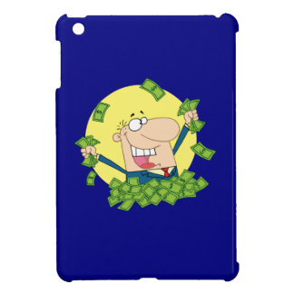 Man in a pile of money iPad mini cover