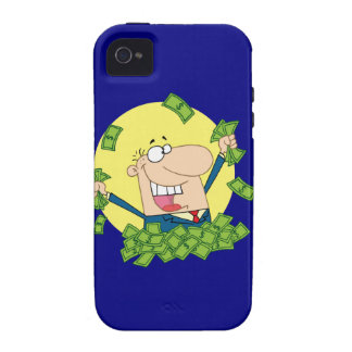 Man in a pile of money iPhone 4/4S covers