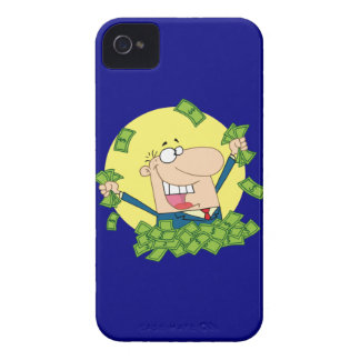 Man in a pile of money iPhone 4 case