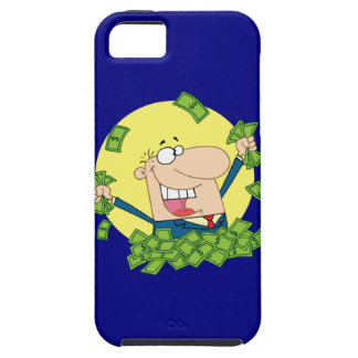 Man in a pile of money iPhone 5 cases