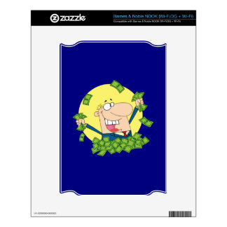 Man in a pile of money NOOK decal