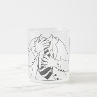 Man In A Suit Frosted Glass Mug