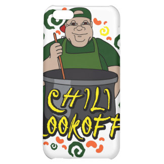 Man in Apron green Chili Cookoff Graphic iPhone 5C Case