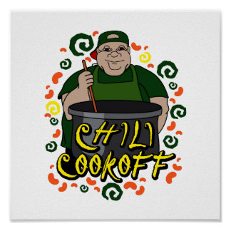 Man in Apron green Chili Cookoff Graphic Print