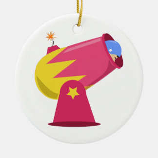 Man In Cannon Christmas Ornament