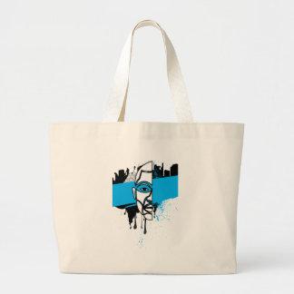 Man in Graffiti Bag