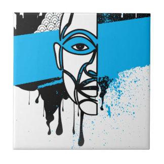 Man in Graffiti Ceramic Tile