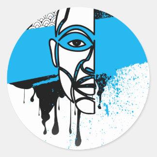 Man in Graffiti Classic Round Sticker