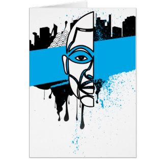 Man in Graffiti Greeting Card