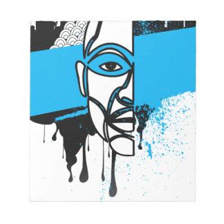 Man in Graffiti Memo Pads