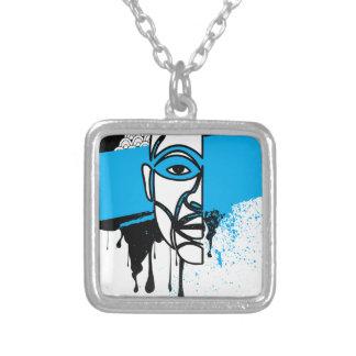 Man in Graffiti Necklace