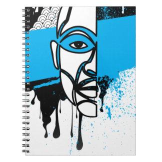 Man in Graffiti Note Books