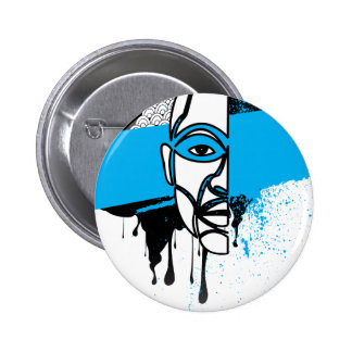 Man in Graffiti Pinback Buttons