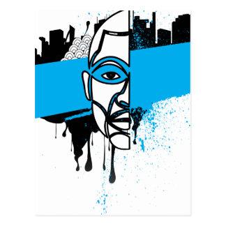 Man in Graffiti Post Card