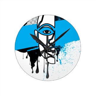 Man in Graffiti Wall Clocks