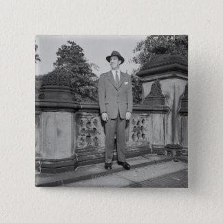 Man in Hat 15 Cm Square Badge