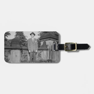 Man in Hat Luggage Tag