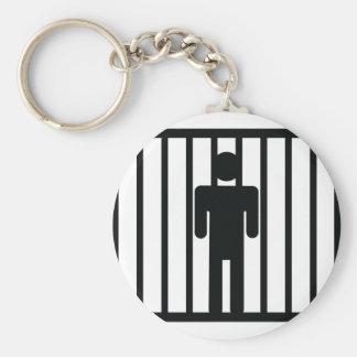 man in jail key chain