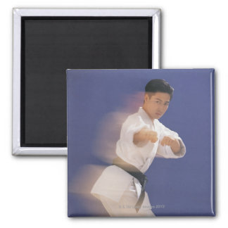 Man in karate stance magnet