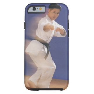Man in karate stance tough iPhone 6 case