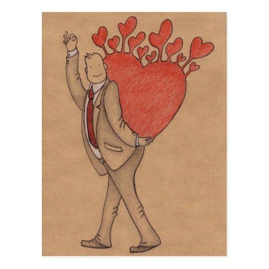 Man in Love Postcard