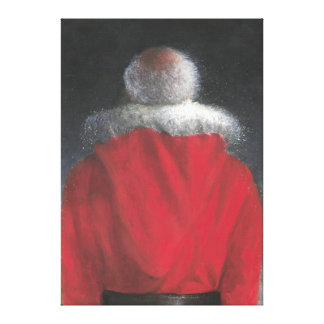 Man in Red Coat Canvas Print