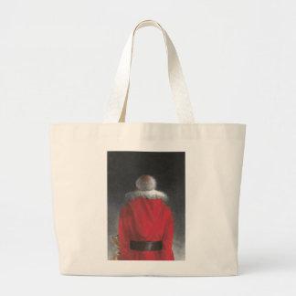 Man in Red Coat Jumbo Tote Bag