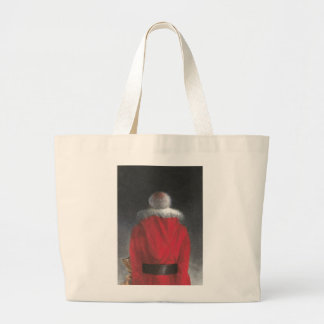 Man in Red Coat Large Tote Bag