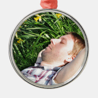 Man in spring christmas ornament