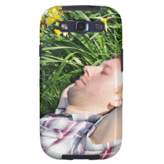 Man in spring galaxy SIII cover