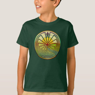MAN IN THE MAZE landscape + your background T-Shirt