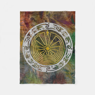 MAN IN THE MAZE ornament + your background Fleece Blanket