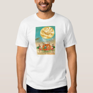 Man In The Moon Bat Witch Jack O Lantern Shirt