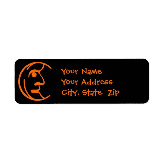 Man in the Moon Return Address Label