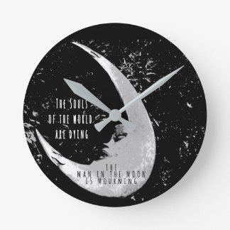 Man in the moon wall clocks